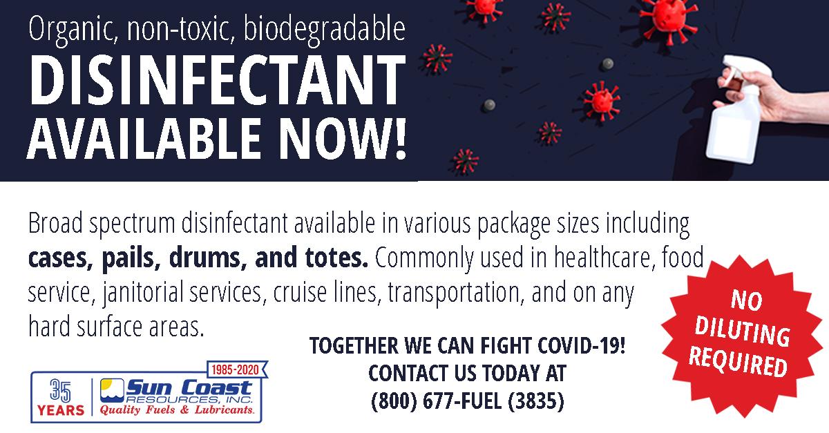 COVID-19 disinfectant spray